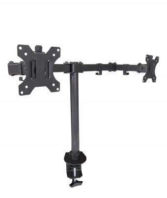 Clamp On Dual-arm Monitor Mount